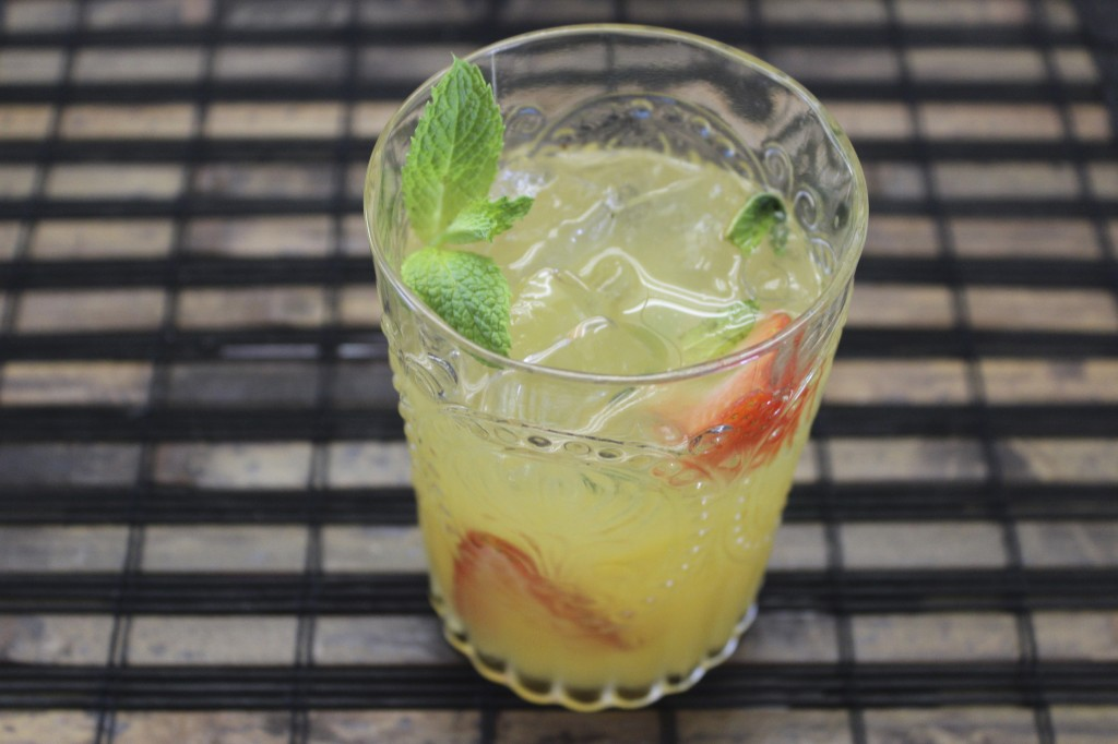 mint and fruit cooler