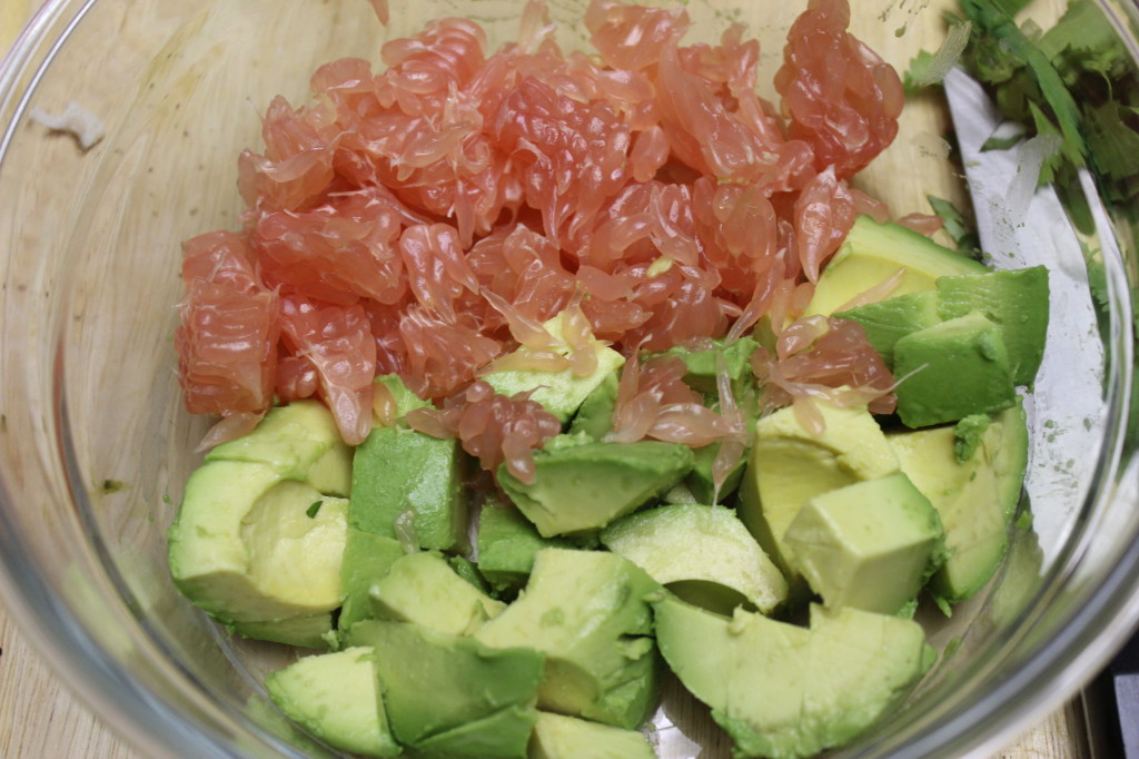 pomelo avocado crab salad 39