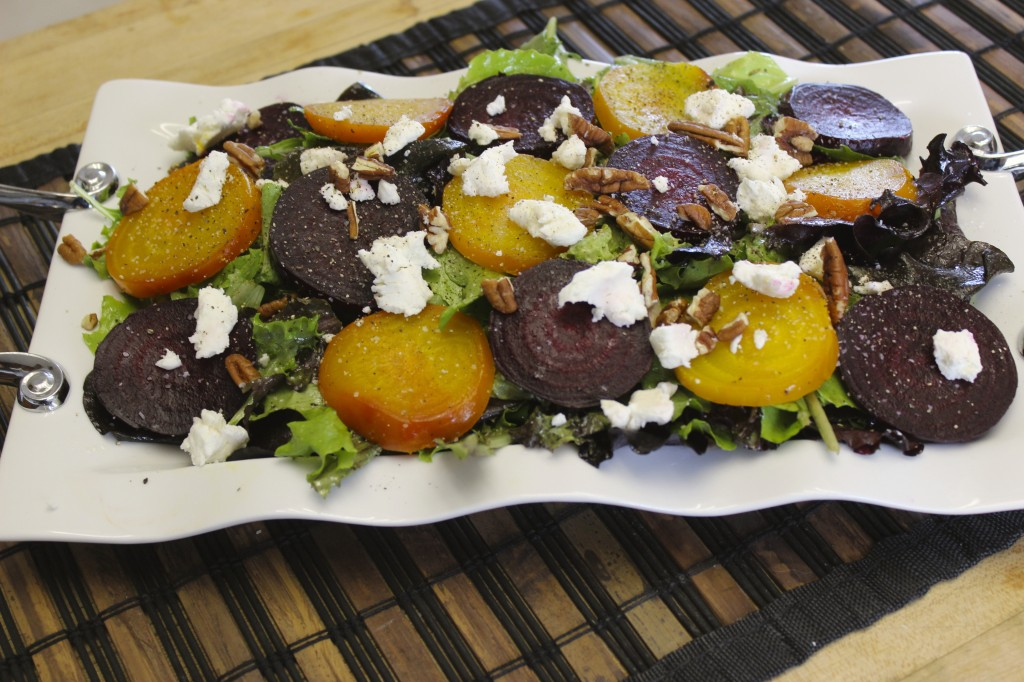beet goat cheese salad orange thyme vinaigrette 62