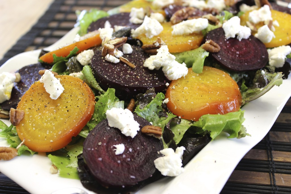 beet goat cheese salad orange thyme vinaigrette 63