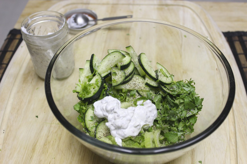 cucumber celery chive salad 14