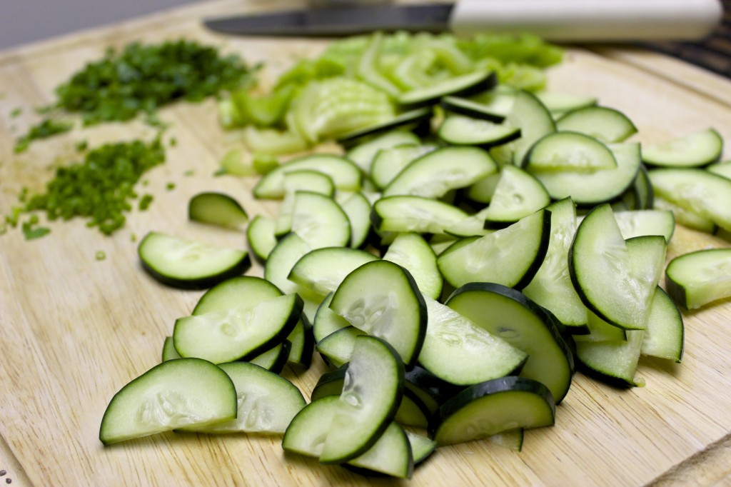 cucumber celery chive salad 4