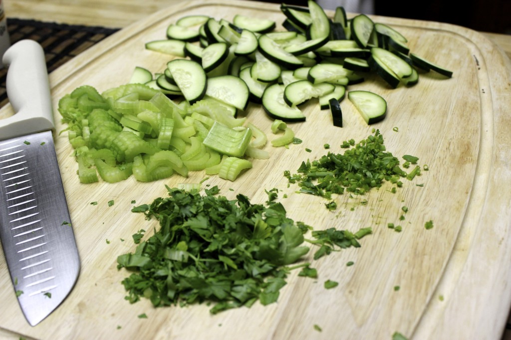 cucumber celery chive salad 5