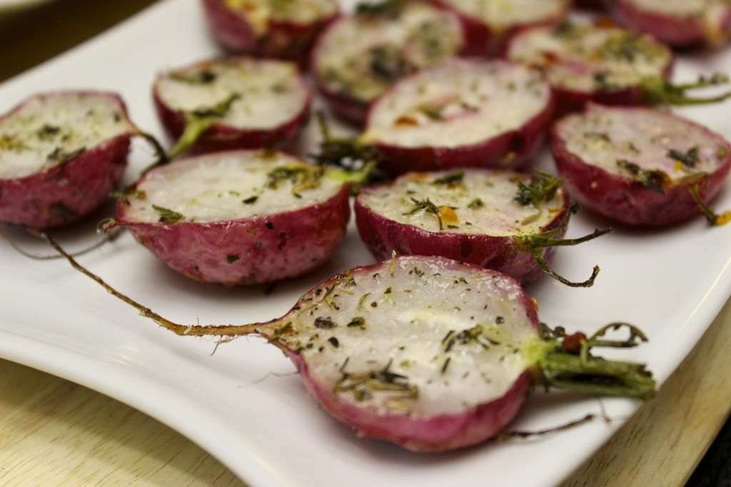 herb roasted radishes 54